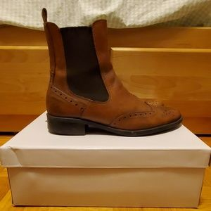 Browns Brown Leather Perforated Chelsea Boot